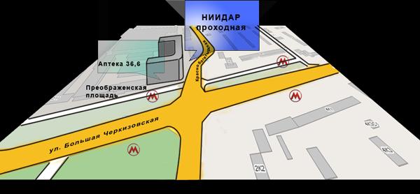 Карта проезда - улица Бухвостова
