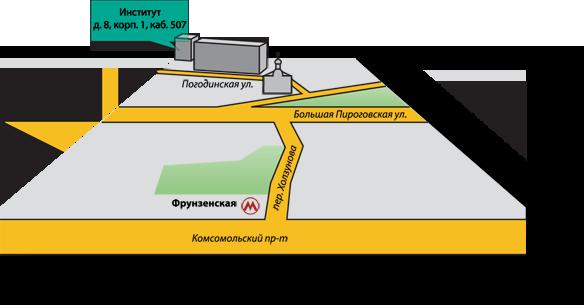 Карта проезда - улица Погодинская
